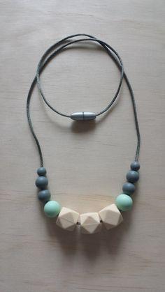 Silicone Teething Necklace by IndigoLaneDesign on Etsy