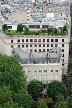 Rooftop garden in Paris