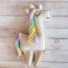 Free crochet pattern on Ravelry: Ragdoll Unicorn pattern by Spin a Yarn Crochet. Soooooo cute!!!