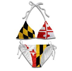 Maryland Flag Bikini: Maryland Pattern Bikini sold exclusively and first by Route One Apparel.