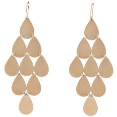 Irene Neuwirth Large Teardrop Chandelier Earrings - Rose Gold ($2,620) ❤ liked on Polyvore featuring jewelry, earrings, accessories, brincos, bijoux, 18k jewelry, tear drop earrings, red gold jewelry, 18k rose gold earrings and 18 karat gold jewelry