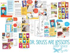 Deep Space Sparkle – Dr. Seuss Art Lesson Plans This would be fun to have a dr Seuss month!