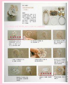 enrHedando: Como hacer Flores de Perlas 2 Tutoriales