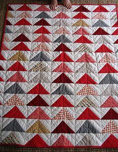 Flock of Triangles quilt - from Denyse Schmidt's book, DS Quilts.