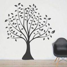 Decoration sticker, tree - Sisustustarra, Tyylitelty puu 110 cm - Hyvän Tuulen Puoti
