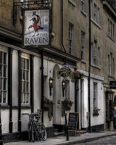 """222 Likes, 2 Comments - Jane Austen (@jane_austen_centre) on Instagram: """"Bath is so full of gentlemanly manners that even the pub signs have top hats!  #TheRaven #TopHat…"""""""