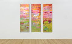 Buy Pink horizon - Triptych, Oil painting by Vania Bouwmeester Pentcheva on Artfinder. Discover thousands of other original paintings, prints, sculptures and photography from independent artists. Triptych, Oil Painting On Canvas, Lovers Art, Impressionist, Buy Art, Original Paintings, Sculptures, Abstract, Figurative
