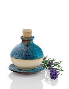 blue ceramic essential oil diffuser