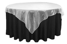 """Organza 72"""" Square Table Overlay - White ● As Low as $2.79"""