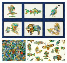 Animal Spirits is a collection full of a rainbow of colors representing the animal spirits in a lively new way. Fabric Animals, Animal Quilts, Robert Kaufman, Quilt Patterns Free, Spirit Animal, Fabrics, Kids Rugs, Rainbow, Stars