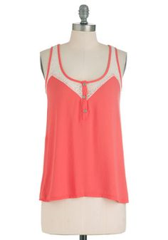 $26.99 Lacy Day In Tank, #ModCloth
