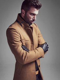 comment etre a la mode avec un manteau long homme, manteau camel homme