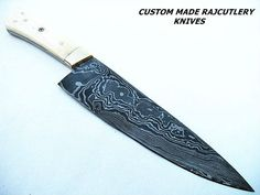 Custom Damascus Handmade Hunting CHEF Knives