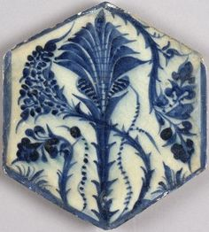 Blue and white tile - the al-Sabah Collection