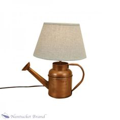 Copper Watering Can Lamp