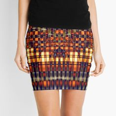 """""""Abstract Lines in Citrus"""" Mini Skirt by CharmaineZoe   Redbubble"""