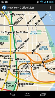 NYC Coffee Map app!