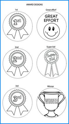 Awards Mixed Designs - Colour In Yourself Badges Badges, Awards, Place Card Holders, Colour, Prints, Design, Book, Color, Badge