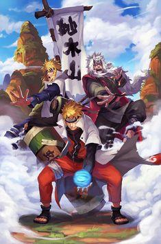 Jiraya, Minato e Naruto Naruto Uzumaki Shippuden, Naruto Shippuden Sasuke, Naruto Kakashi, Anime Naruto, Manga Anime, Wallpaper Naruto Shippuden, Art Anime, Naruto Wallpaper, Gaara