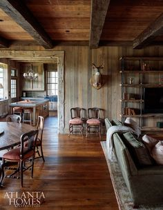 Rustic Wood Cabin! Melanie Millner, The Design Atelie House Tour:  Rustic Lake Wateree Hunting Lodge on Atlanta Homes!