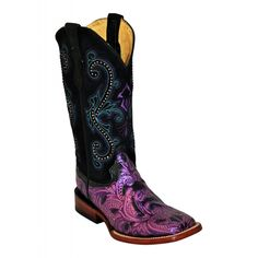 Ferrini Women's Embossed Purple Boot's