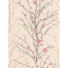 Buy Graham & Brown Vitality Floral Wallpaper, Pink/Cream, 50-017 Online at johnlewis.com