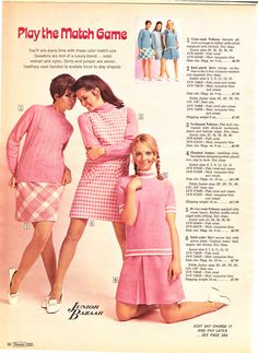 """""""Play the match game""""    (her pigtails are adorable)    1968 Sears Wish Book 067"""