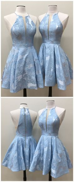 Sky blue Homecoming Dresses, Cheap Homecoming Dresses, jacquard Homecoming Dresses cheap,short Homecoming Dresses,Plus Size Homecoming Dresses,Floral Homecoming Dresses,Cute Homecoming Dresses,#graduationparty #homecomingdresses #jacquard