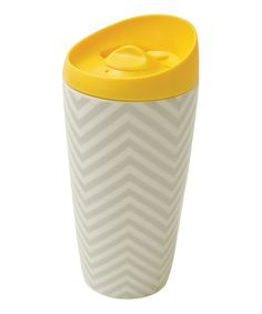 Look what I found on #zulily! Yellow Lidlock 14-Oz.Travel Mug #zulilyfinds