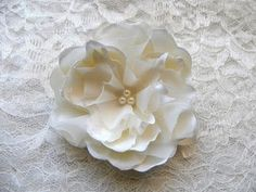 cute flower with pearl center to match my dress
