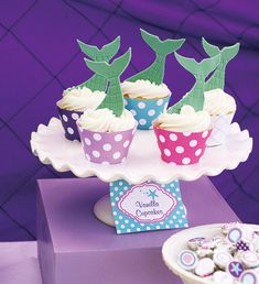 Ariel Inspired Ombre Little Mermaid Party {Teal & Purple} // Hostess with the Mostess®