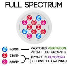 Amazon.com : Vintage Grow HIGH YIELD Full Spectrum Hydroponics LED Grow Light…