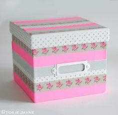 Puedes decorar cajas con washi tape fácilmente
