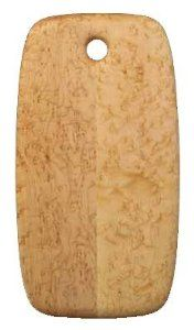 """Edward Wohl Bird's Eye Maple Cutting Board - 9.5"""" x 18"""" . $135.00. Shaped like an artist's palette,Edward Wohl's solid Bird's Eye Maple Cutting Boards are unlike any you've seen. They are crafted by joining sections from a single piece of bird's-eye maple so the wood tone is consistent throughout. The hand beveled boards are individually hand-sanded and finished to the perfect smoothness to compliment the graceful shape and balance. Size: 9.5"""" x 18""""."""