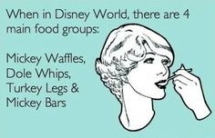 Accurate. Disney food. Oh, wait, we forgot the pastries from EPCOT's France. Yummm.