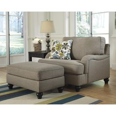 Ashley Furniture Hariston - Shitake Chair and a Half with English Arms