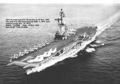 US Aircraft Carrier VIETNAM | Aug. 2, 1964 - Aircraft from USS Ticonderoga (CVA 14) drove off North ...