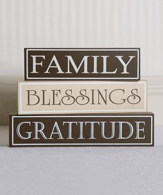 Take a look at this Thankful Decorative Block Set by Adams & Co. on #zulily today!