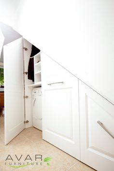 Under stairs storage, washing Machine And Dryer from Avar Furniture