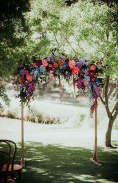 7 Mariage les Arcs Qui Sera Instantanément Mise à niveau de Votre Cérémonie de fleurs Colorées décorées de mariage arc – Automne idées de mariage #fallwedding #autumnwedding