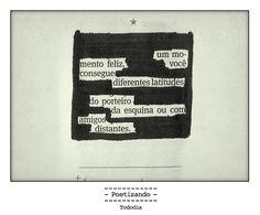 """Poesia """"achada"""" no jornal do dia 13/01 pela poeta Lilian Aquino."""