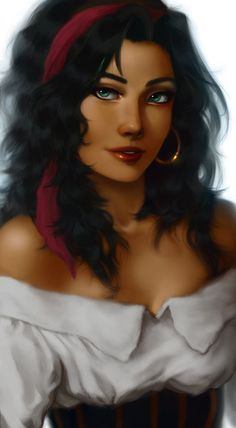 Esmeralda from Hunchback of Notre Dame fan art Disney And Dreamworks, Disney Pixar, Walt Disney, Disney Characters, Disney Dream, Disney Love, Disney Magic, Disney Girls, Disney Princess