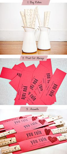 Cute Valentines for kids to hand out in class - love this and no candy involved!