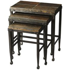Butler Specialty Metalworks Slate & Metal Burnham Nesting Tables
