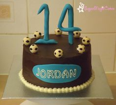 For a football mad 14 year old, who loves my choc fudge cake! :-)