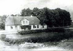 Damerau Kr. Samland; Gem. Damerau,  Gutshof String, Wohnhaus mit Teich