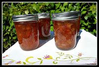 Orange Rhubarb Jam is sweet and tart.  It's great on toast or as a cake filling! - Hezzi-D's Books and Cooks