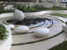 Garden in UK Entry Gates, Wall Cladding, Roof Design, Natural Stones, Stairs, Architecture, Garden, Decor, Entrance Gates