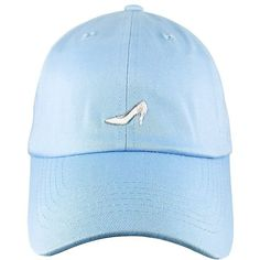 Glass Slipper Dad Hat ❤ liked on Polyvore featuring accessories, hats and glass hat