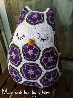 Maggie the owl pillow - design by Heidi bears